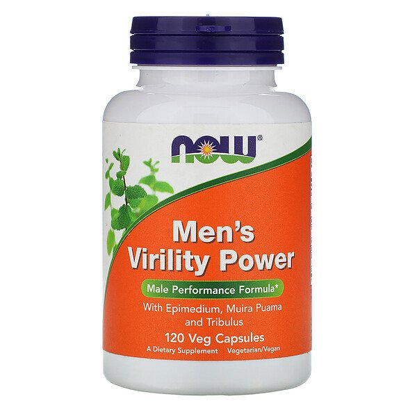 Now Foods, Men's Virility Power, 120 Veg Capsules