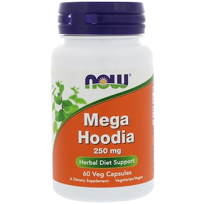 Mega Hoodia, 250 мг, 60 вегетарианских капсул citicoline cdp choline 250 мг 60 капсул