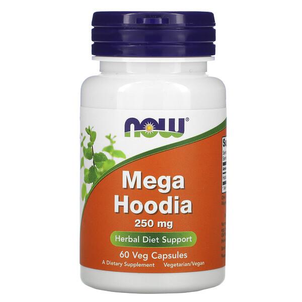 Now Foods, Mega Hoodia, 250 mg, 60 Veg Capsules (Discontinued Item)