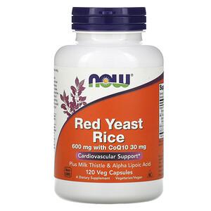 Now Foods, Red Yeast Rice, 120 Veg Capsules отзывы покупателей