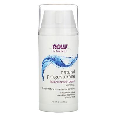 Now Foods Натуральный прогестерон, липосомный крем для кожи, без запаха, 85 г