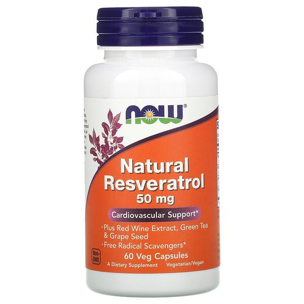 Resveratrol natural, 50 mg, 60 cápsulas vegetales