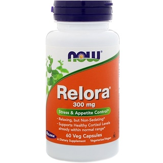 Now Foods, Relora, 300 mg, 60 Veg Capsules