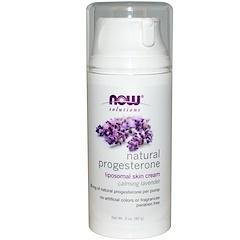 Now Foods, Natural Progesterone, Liposomal Skin Cream, Calming Lavender, 3 oz (85 g)