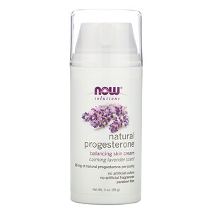 Now Foods, Solutions, Natural Progesterone, Balancing Skin Cream, Calming Lavender Scent, 3 oz (85 g) отзывы покупателей