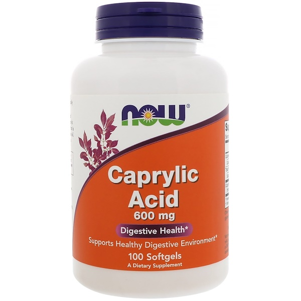 Caprylic Acid, 600 mg, 100 Softgels