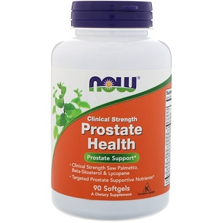 Now Foods, Clinical Strength Prostate Health (Saúde de Força Clínica da Próstata), 90 Softgels