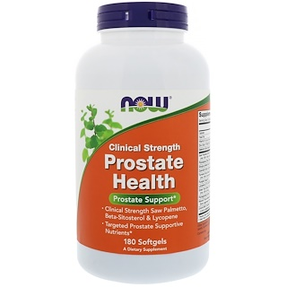 Now Foods, Clinical Strength Prostate Health, 180 Softgels