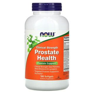 Now Foods, Saúde da Próstata Clinical Strength, 180 Cápsulas Softgel