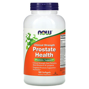 Now Foods, Clinical Strength Prostate Health, 180 Softgels отзывы