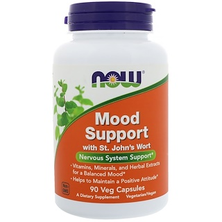 Now Foods, Mood Support para el Estado de Ánimo, 90 Cápsulas Vegetarianas