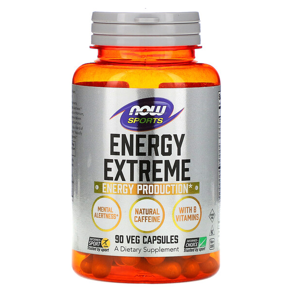 Now Foods, Sports, Energy Extreme, 90 Veg Capsules