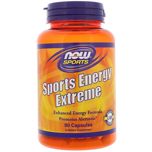Now Foods, Sports Energy Extreme, 90 Capsules