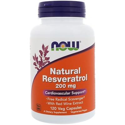 Купить Натуральный ресвератрол, 200 мг, 120 растительных капсул
