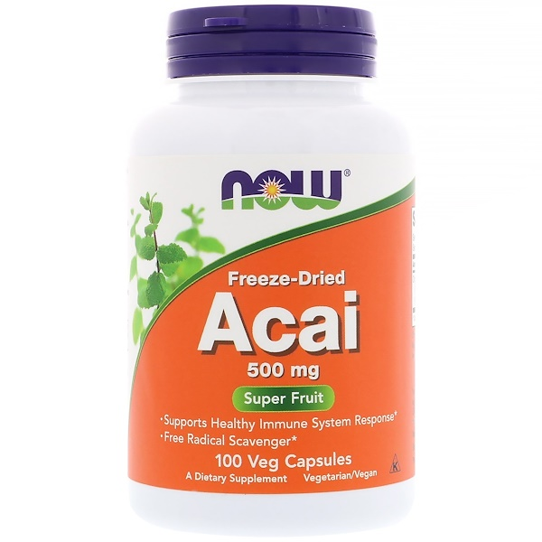 Freeze-Dried Acai, 500 mg, 100 Veg Capsules