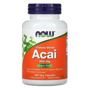 Now Foods, Freeze-Dried Acai, 500 mg, 100 Veg Capsules отзывы покупателей