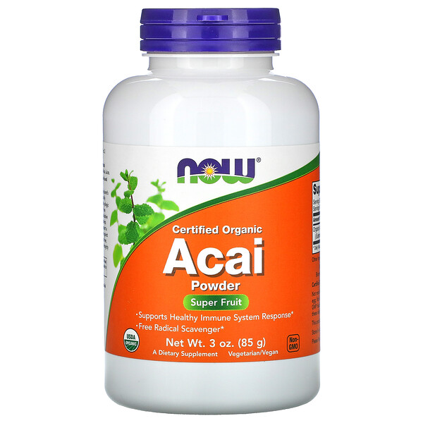 Certified Organic Acai Powder, 3 oz (85 g)