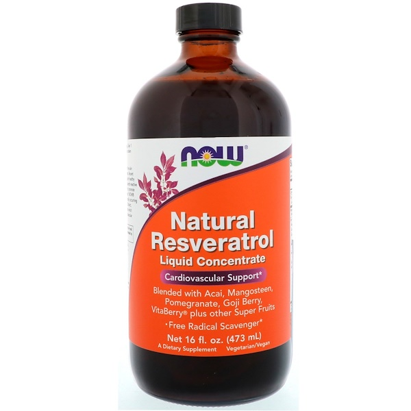 Resveratrol Natural, concentrado líquido, 16 fl oz (473 ml)