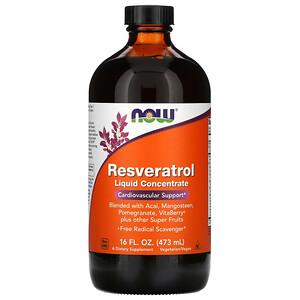 Now Foods, Resveratrol, Liquid Concentrate, 16 fl oz (473 ml) отзывы покупателей