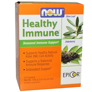 Now Foods, Healthy Immune, Seasonal Immune Support, 24 Packets, (4.5 g)  Each отзывы