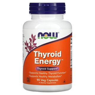 Now Foods, Thyroid Energy, 90 Veg Capsules