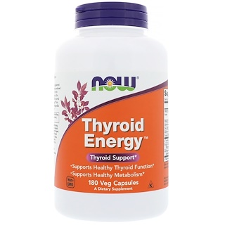 Now Foods, Thyroid Energy, 180 야채 캡슐