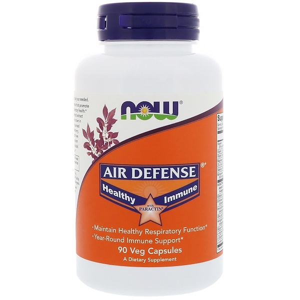 Now Foods, Air Defense Healthy Immune with Paractin, 90 Veg Capsules (Discontinued Item)