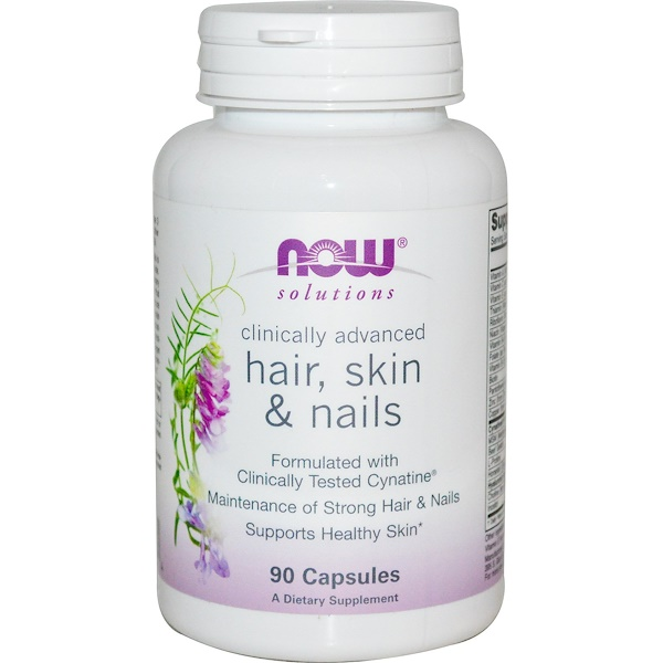 Now Foods, Solutions, Hair, Skin & Nails, 90 Capsules