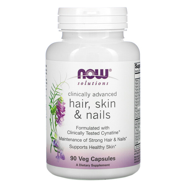 Now Foods, Solutions, Clinically Advanced Hair, Skin & Nails, 90 Veg Capsules