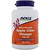 Now Foods, Apple Cider Vinegar, Extra Strength, 750 mg, 180 Tablets