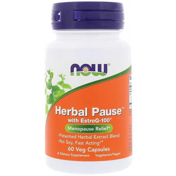 Now Foods, Herbal Pause With EstroG-100, 60 Veg Capsules