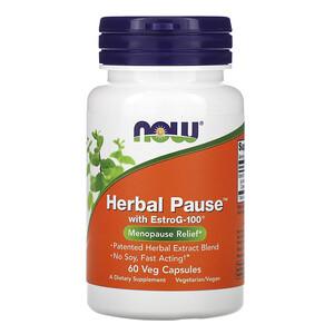 Now Foods, Herbal Pause With EstroG-100, 60 Veg Capsules отзывы покупателей