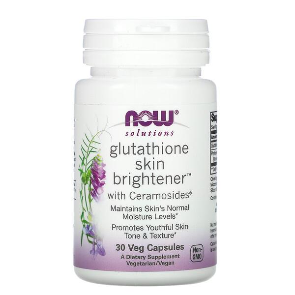 Solutions, Glutathione Skin Brightener, 30 Veg Capsules