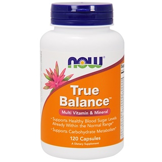 Now Foods, True Balance, Multi Vitamina e Mineral, 120 Cápsulas