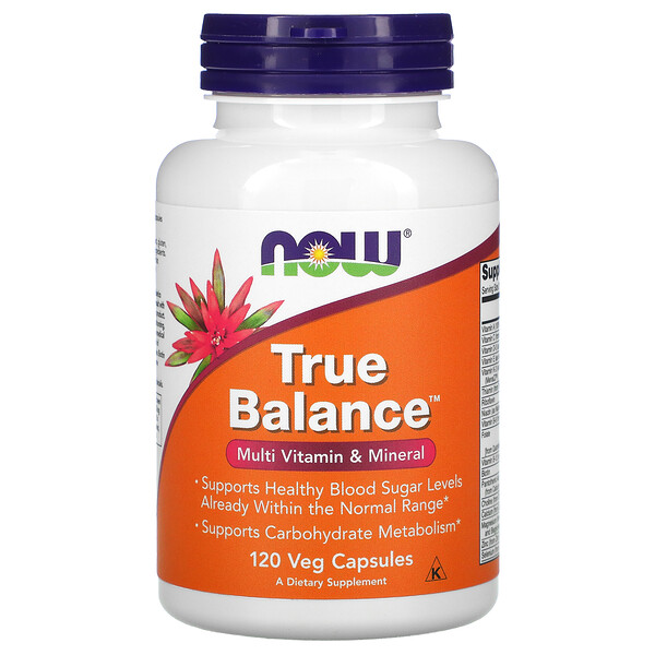 Now Foods, True Balance, Multi Vitamin & Mineral, 120 Veg Capsules