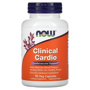 Now Foods, Clinical Cardio, Cardiovascular Support, 90 Veg Capsules