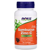 Now Foods, Sambucus Zinc-C, 60 Lozenges
