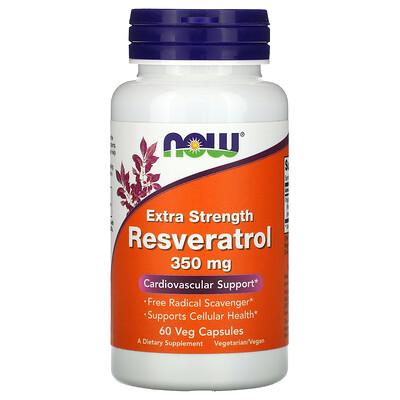 Купить Now Foods Extra Strength Resveratrol, 350 mg, 60 Veg Capsules