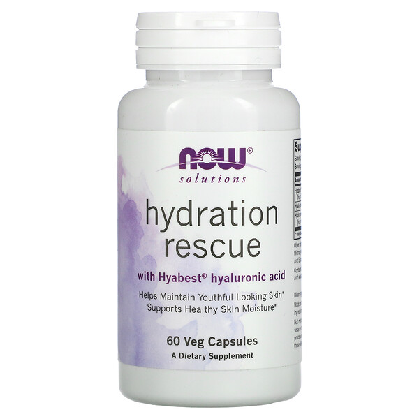 Solutions, Hydration Rescue with Hyabest Hyaluronic Acid, 60 Veg Capsules
