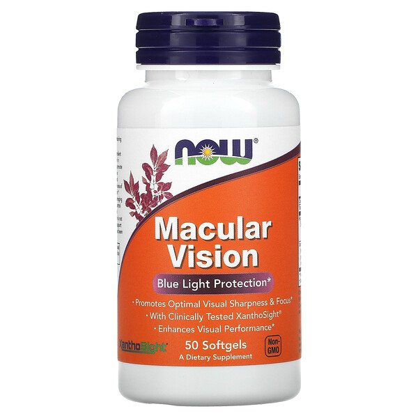 Now Foods, Macular Vision, Blue Light Protection, 50 Softgels