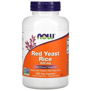 Now Foods, Red Yeast Rice, 600 mg, 240 Veg Capsules