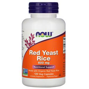 Now Foods, Red Yeast Rice, 600 mg, 120 Veg Capsules отзывы покупателей
