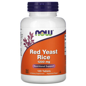 Now Foods, Red Yeast Rice, 1200 mg, 120 Tablets отзывы покупателей