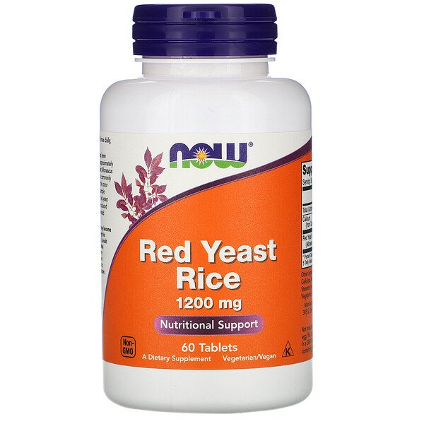 Red Yeast Rice, 1200 mg, 60 Tablets