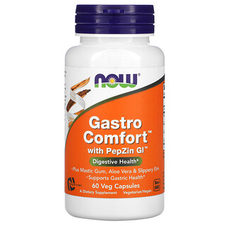 Now Foods, GastroComfort с PepZinGI, 60растительных капсул