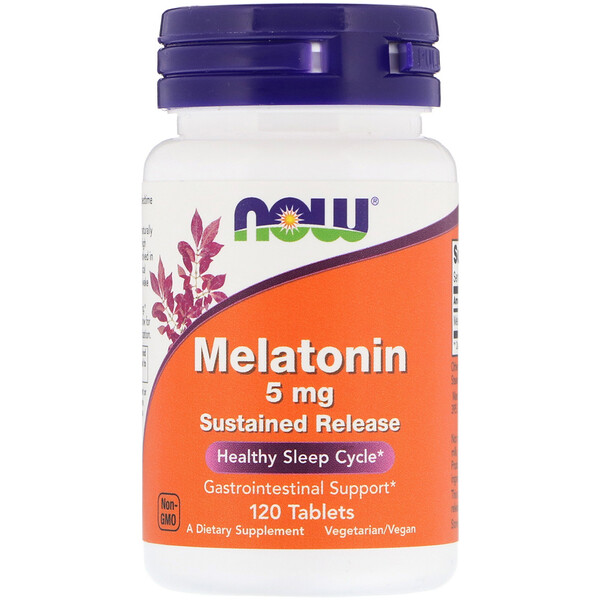 Now Foods, Melatonin, 5 mg, 120 Tablets