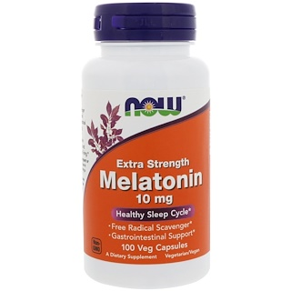 Now Foods, Melatonina Extra Forte, 10 mg, 100 Cápsulas Vegetarianas
