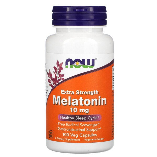 Extra Strength Melatonin, 10 mg, 100 Veg Capsules