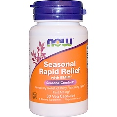 Now Foods, Seasonal Rapid Relief, With EMIQ, 30 Veggie Caps