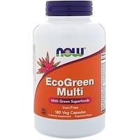 EcoGreen Multi, Без содержания железа, 180 вегетарианских капсул - фото